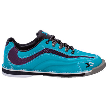 3G Women's Sport Ultra Bowling Shoes - Teal/Purple - single shoe