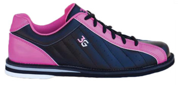 3G Women's Kicks Bowling Shoes - Black/Pink - individual shoe