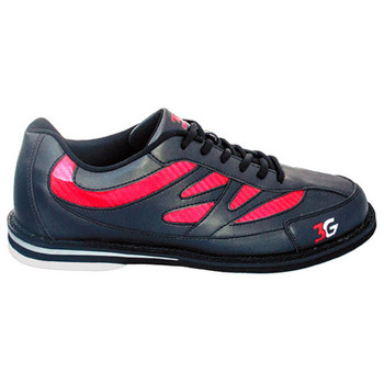 3G Unisex Cruze Bowling Shoes - Black/Red - single shoe