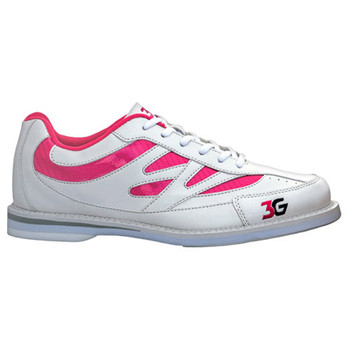 3G Women's Cruze Bowling Shoes - White/Pink - single shoe