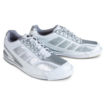 Brunswick Phantom Mens Bowling Shoes - White/Silver Carbon Fiber - Right Handed