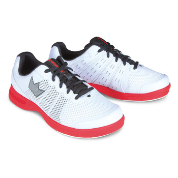 Brunswick Fuze Mens Bowling Shoes - White/Red