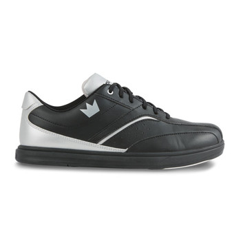 Brunswick Vapor Mens Bowling Shoes - Black/Silver - side view