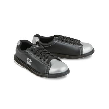 Brunswick TZone Youth Bowling Shoes - Black/Silver
