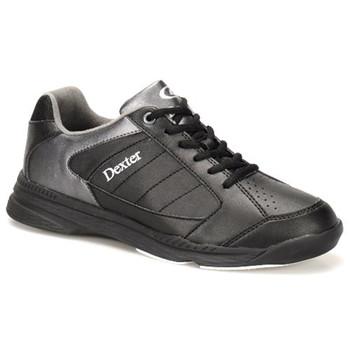 Dexter Ricky IV Mens Bowling Shoes - Black/Alloy Trim - WIDE