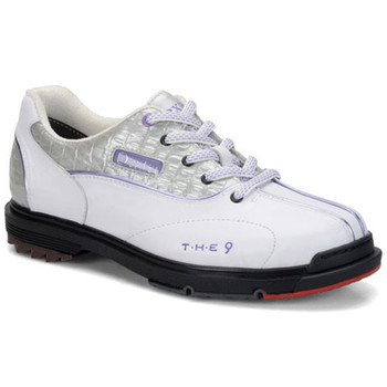 Dexter THE 9 Womens Bowling Shoes - White/Silver/Lilac - WIDE