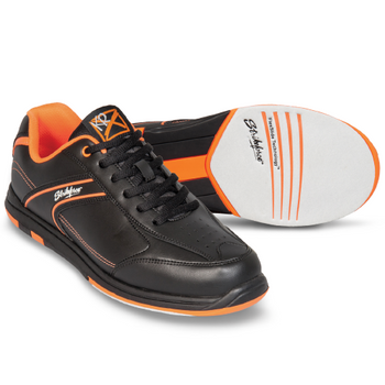KR Strikeforce Flyer Mens Bowling Shoes - Black/Orange