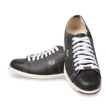 Linds Classic Mens Bowling Shoes Black Leather - Right Handed -  WIDE