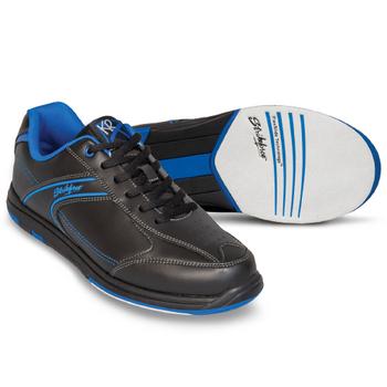 KR Strikeforce Flyer Mens Bowling Shoes - Black/Mag Blue - WIDE