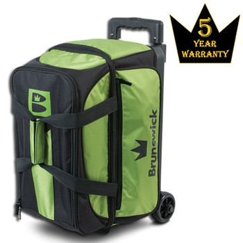 Brunswick Blitz Double Roller Bowling Bag - Lime Bowling Bag