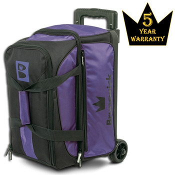 Brunswick Blitz Double Roller Bowling Bag - Purple Bowling Bag