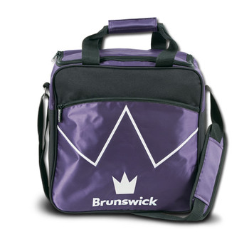 Brunswick Blitz Single Tote - Purple Bowling Bag