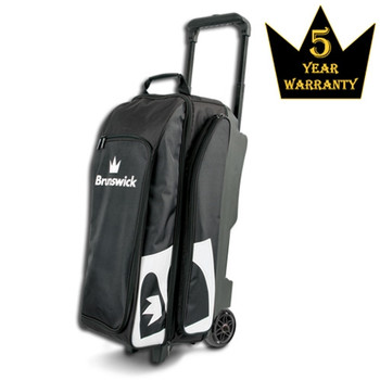 Brunswick Blitz Triple Roller Bowling Bag - Black