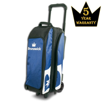 Brunswick Blitz Triple Roller Bowling Bag - Blue