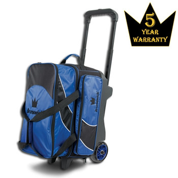 Brunswick Edge Double Roller Bowling Bag - Blue