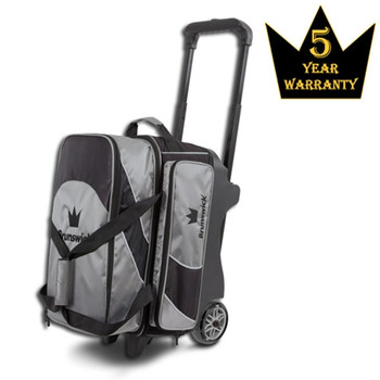 Brunswick Edge Double Roller Bowling Bag - Silver