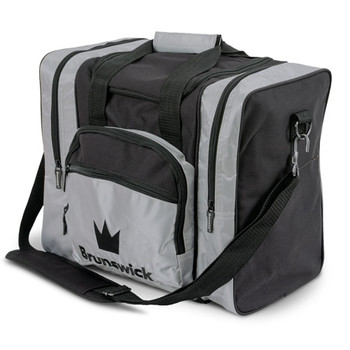 Brunswick Edge Single Tote - Silver Bowling Ball Bag