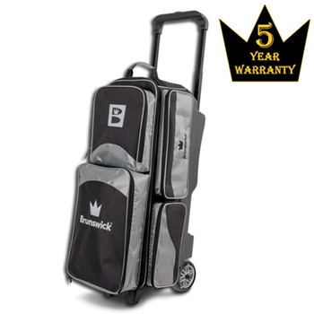 Brunswick Edge Triple Roller Bowling Bag - Silver