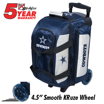 KR Strikeforce NFL Dallas Cowboys 2 Ball Roller Bowling Bag Standing