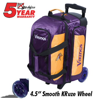 KR Strikeforce NFL Minnesota Vikings 2 Ball Roller Bowling Bag Standing
