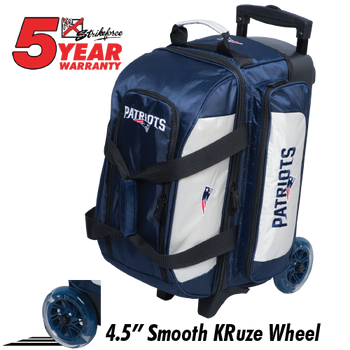 KR Strikeforce NFL New England Patriots 2 Ball Roller Bowling Bag Standing
