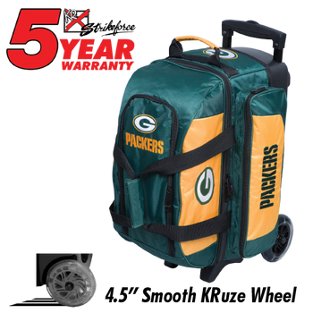 KR Strikeforce NFL Green Bay Packers 2 Ball Roller Bowling Bag Standing