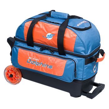 KR Strikeforce NFL Miami Dolphins 2 Ball Roller Bowling Bag
