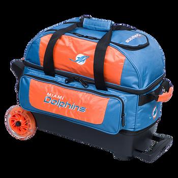 KR Strikeforce NFL Miami Dolphins 2 Ball Roller Bowling Bag