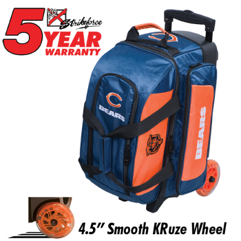 KR Strikeforce NFL Chicago Bears 2 Ball Roller Bowling Bag  Standing