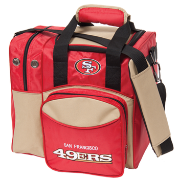 KR Strikeforce NFL San Francisco 49ers 1-Ball Bowling Bag
