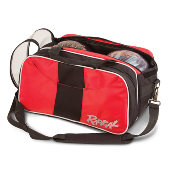 Radical 2 Ball Tote Bowling Bag with Shoe Pouch - Red/Black