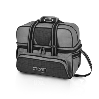 Storm 2 Ball Tote Deluxe - Plaid/Grey/Black