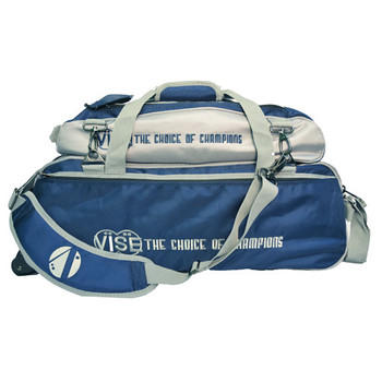 Vise 3 Ball Tote Roller with Shoe Pouch Navy/Silver