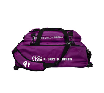 Vise 3 Ball Tote Roller with Shoe Pouch Purple
