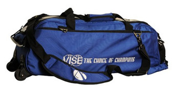 Vise 3 Ball Tote Roller Bowling Bag Blue