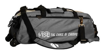 Vise 3 Ball Tote Roller Bowling Bag Gray