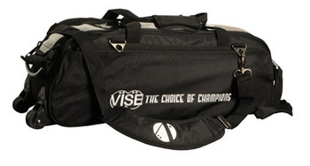 Vise 3 Ball Tote Roller Bowling Bag Black