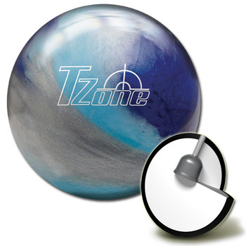 Brunswick Target Zone Arctic Blast Bowling Ball and core