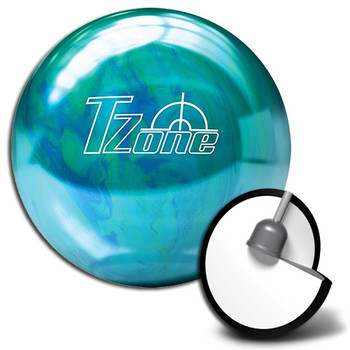 Brunswick Target Zone Caribbean Blue Bowling Ball  and Core