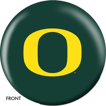 OTBB Oregon Ducks Bowling Ball front
