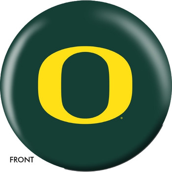 OTBB Oregon Ducks Bowling Ball front