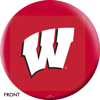 OTBB Wisconsin Badgers Bowling Ball front