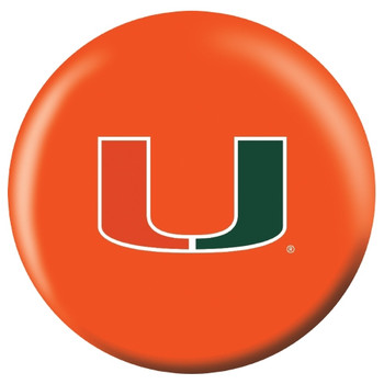 OTBB Miami Hurricanes Bowling Ball front