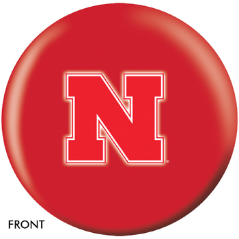 OTBB University of Nebraska Bowling Ball front
