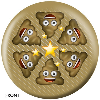 OTBB Emoji Poo Happens Bowling Ball front