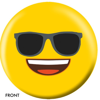 OTBB Emoji Yellow Faces Bowling Ball front