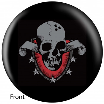 OTBB Skull Shield Bowling Ball front