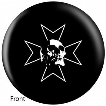 OTBB Skull Iron Bowling Ball front
