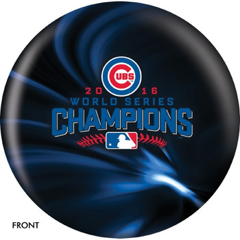 OTBB Chicago Cubs Bowling Ball 2016 World Series Bowling Ball front
