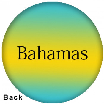 OTBB Bahamas Flag Bowling Ball back